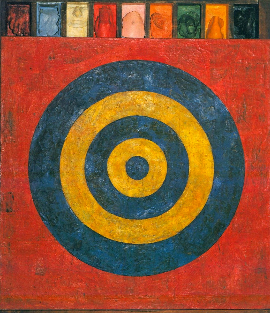 Jasper Johns : Target with Plaster Casts, 1955
